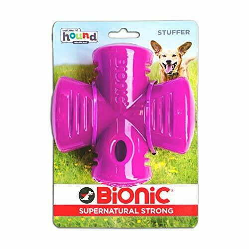 Stuffer Durable Dog Chew Toy Tough Dog Toy by Bionic Purple $9.00