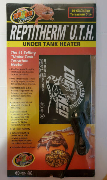 Zoo Med Reptitherm Under Tank Heater for 50 60 Gallon Terrarium RH 6 New Sealed $29.99