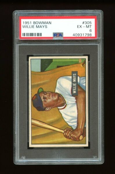 1951 Bowman Set Break #305 Willie Mays RC PSA 6 EX-MT