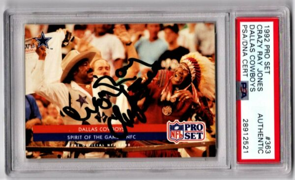 THE GREATEST DALLAS COWBOYS FOOTBALL CARD EVER! PSA 11 Redskins CRAZY RAY CHIEF