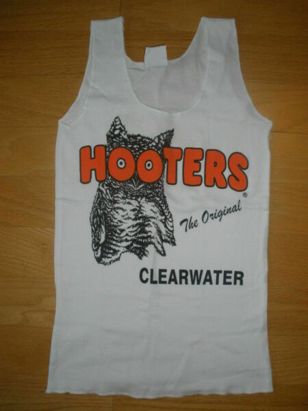 New HOOTERS Girl Sexy *Grab Bag* Authentic White Uniform Tank Florida XS S M L $21.95