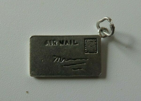 Vintage Sterling Silver Love Letter Air Mail Charm