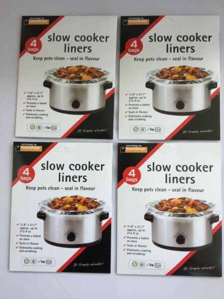 16 TOASTABAGS Crock Pot Slow Cooker Liner bags NEW w FREE SHIP