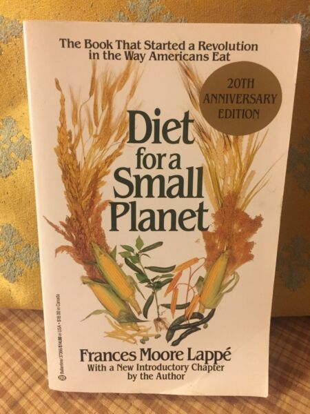 Diet for a Small Planet 20th Anniversary Ed  Lappe Frances Moore Very Good