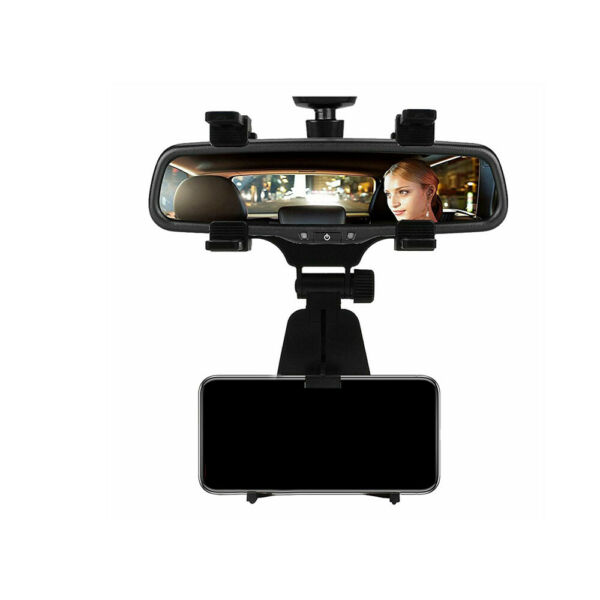 New Universal Car Rear view Mirror Mount Stand Holder Cradle For Cell Phone $6.78