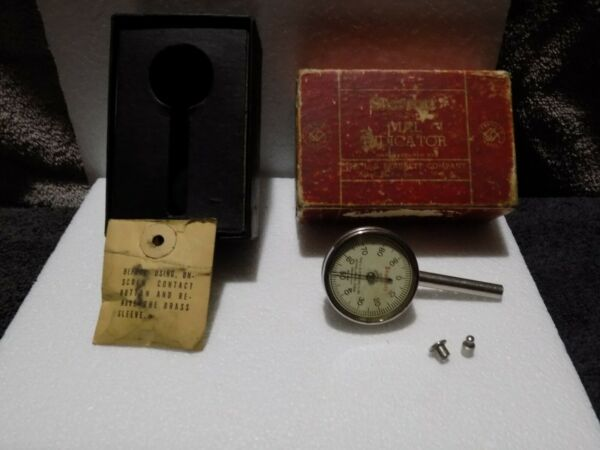 Starrett Dial Test Indicator Plunger No.196B Jeweled Inspection Tool .001 Cnc $52.00