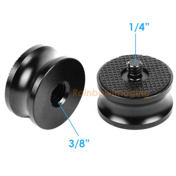 2 Packs 3 8quot; Female to 1 4quot; Male Thread Screw Mount Adapter Tripod Plate Screw