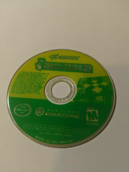 Midway Arcade Treasures 2 - Nintendo GameCube - Disk Only Tested MORE IN STORE