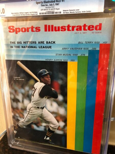 Sports Illustrated CGC 9.0 Newsstand 1967 Roberto Clemente #1 of 8