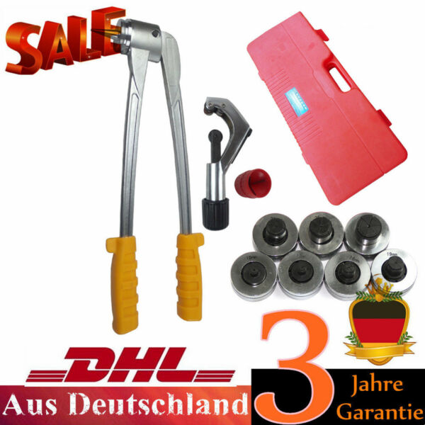 7 Head Manual Pipe Flaring Expander Tool Hydraulic Copper Heads Tube Swaging Kit $80.00