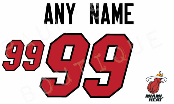 ANY NAME ANY NUMBER Lettering for Authentic Miami Heat White Jersey $25.00