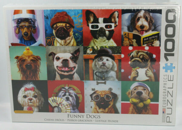 Eurographics Puzzle Funny Dogs 1000 pieces selfies glasses hats NEW $39.99