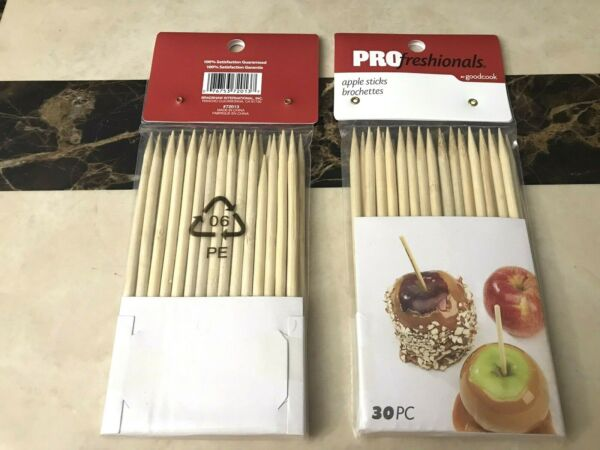 Caramel Apple Corn Dog Sticks Wood Skewers Dowels Pointed 6quot; x 1 4quot; 60 Total $6.50