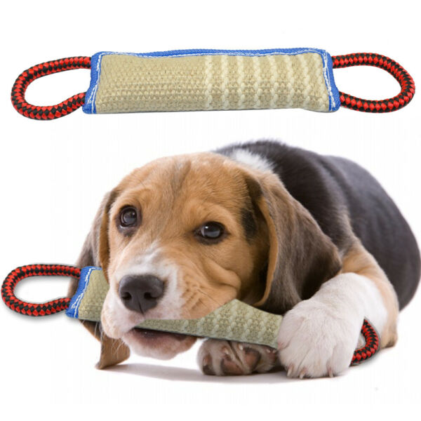 Strong Dog Chew Toys Indestructible Linen Bite Tugs for Medium Large with Handle $19.99