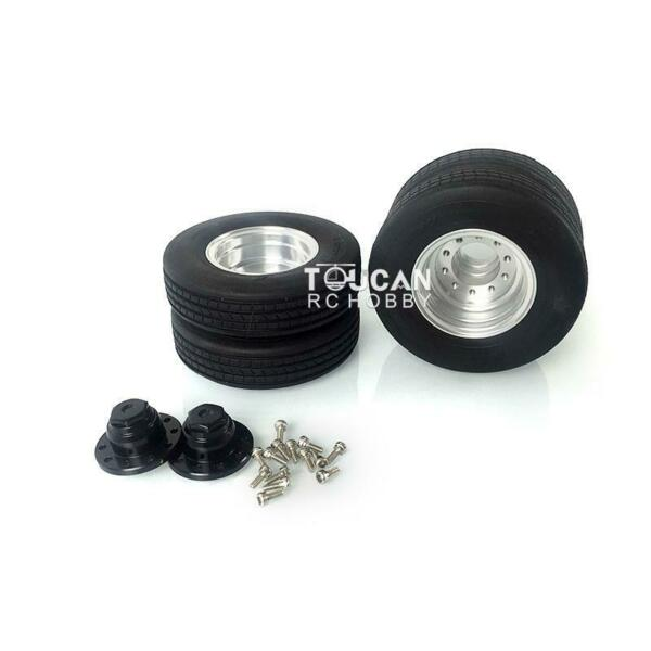 Spare LESU Metal Hub W Tyres for 1 14 Scale RC Tractor DIY Truck Trailer Model $59.90