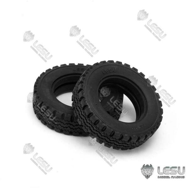 Front Wheel Tyre 1 Pair for 1 14 LESU RC DIY Truck Forklift Model Car Parts $13.90