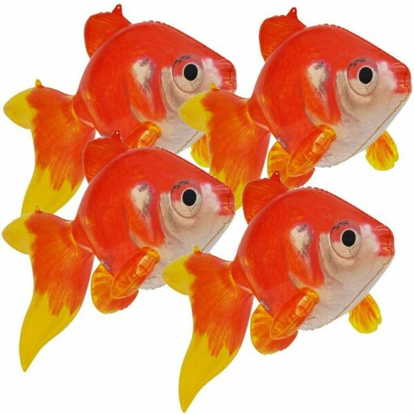 Inflatable Gold Fish 20 inch Long Pack of 4 $14.95
