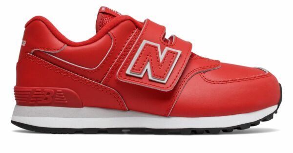 New Balance Kid's 574 Little Kids Male Shoes Red