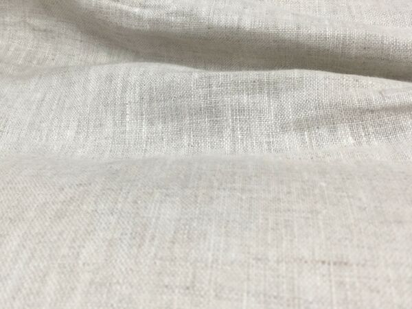 "Off White 100% linen fabric 60"" Width Sold By The Yard"
