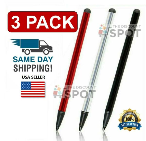 2 in 1 Touch Screen Pen Stylus Universal For iPhone iPad Samsung Tablet Phone PC $3.19