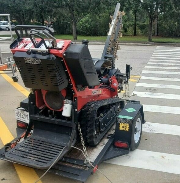 2016 Barreto 2024 TK Walk Behind Steerable Track Trencher 18Hp Honda Gas Engine