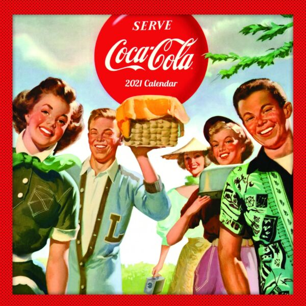 2021 Coca Cola Nostalgia COKE Vintage Art Wall Calendar Officially Licensed