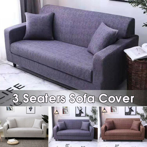 3 Seater Sofa Covers Stretch Sofa Slipcover Couch Cover Living Room Protector $27.14