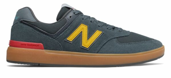 New Balance Men's 574 All Coasts Shoes Navy with Tan