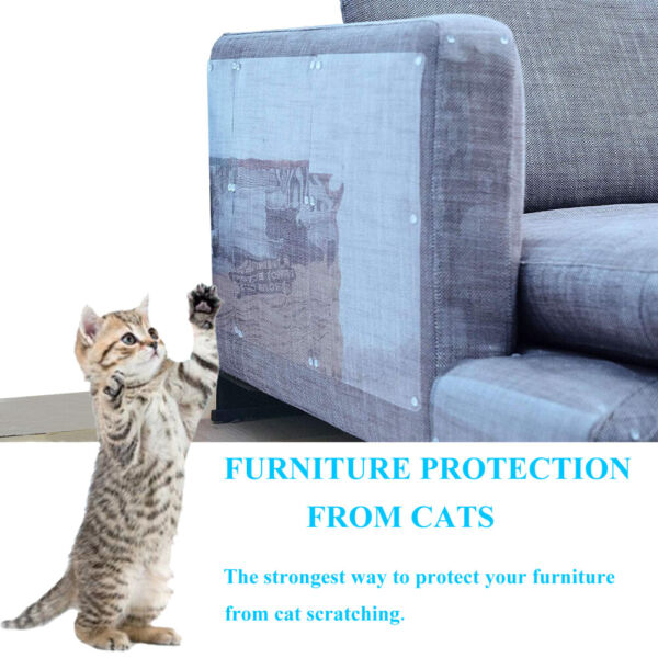 8PCS Furniture Protectors Cat Anti Scratch Scratching Post Couch Protector Guard $20.40