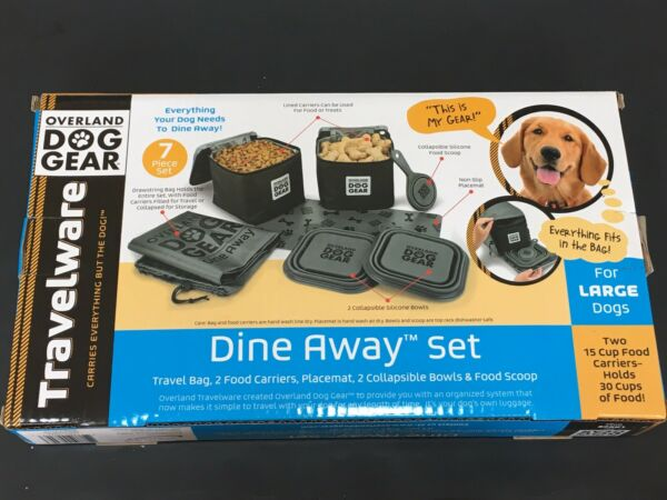 Mobile Dog Gear Dine Away Dog Travel Bag for Medium and Large Dogs Gray Black $31.99