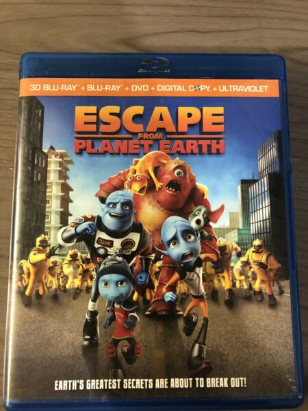 Escape From Planet Earth (Blu-rayDVD 2013 4-Disc Set Includes Digital... $5.99
