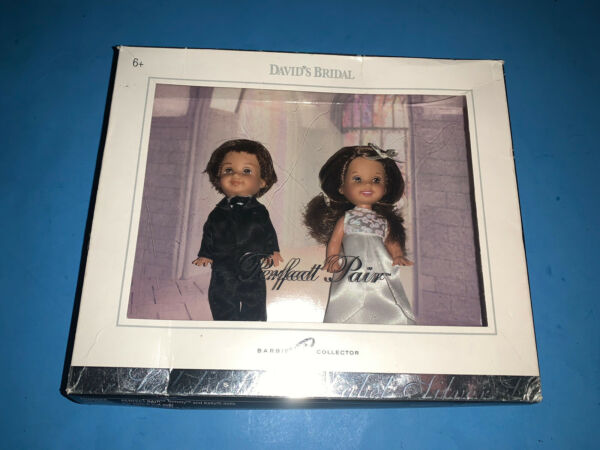David's Bridal Perfect Pair Tommy + Kelly Doll Brunette Silver Label H8153 TLC