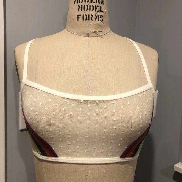 Out From Under For Urban Outfitters Over The Rainbow Bra Medium $34.00