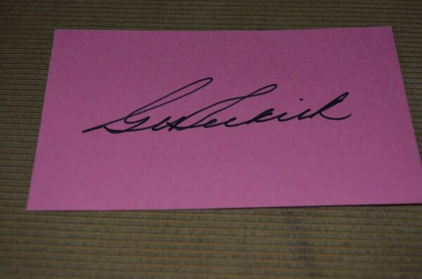 George Selkirk 3x5 index card signed New York yankees 5x WSC D:1987 JSA holo