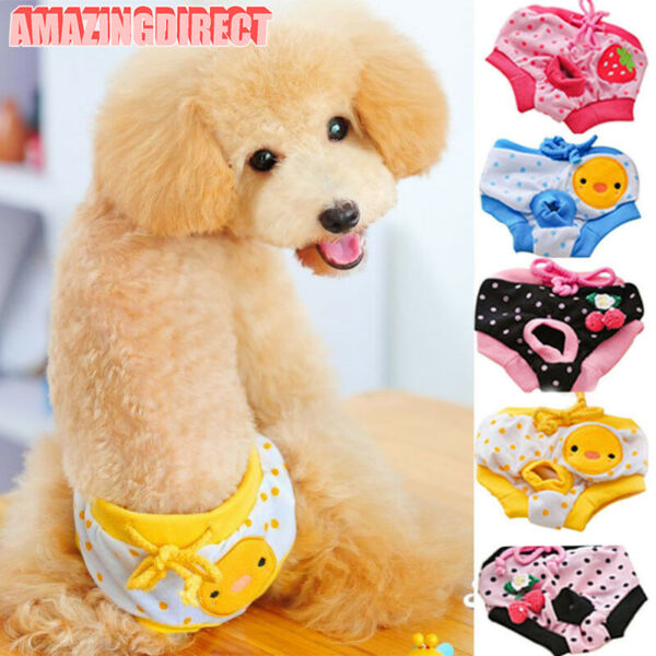 Female Dog Washable Diapers Underwear Pants Physiological Sanitary Pet Supplies $5.69