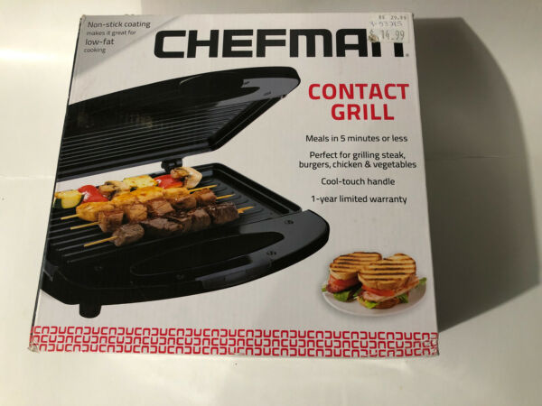 Chefman Contact Grill Non Stick Surface In New Condition