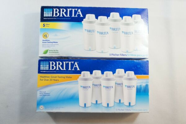 NEW Brita 5 Pack Water Pitcher Replacement Filters Sealed Box 2 Set Bundle