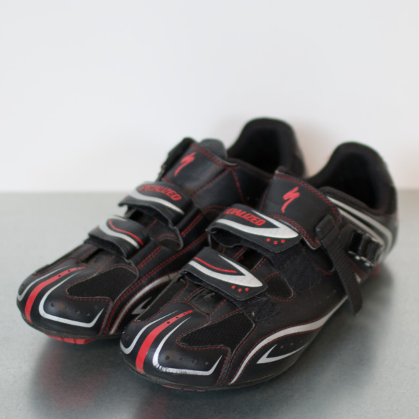 Specialized Mountain Cycle Bike Shoes US 12.5 EUR 45.5 Black Red Clip On Shoe $89.17