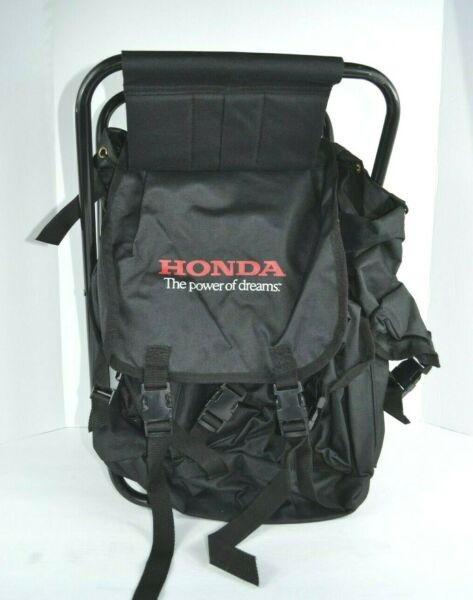 HONDA Backpack Chair Folding Track Seat External Frame Black Excellent Condition