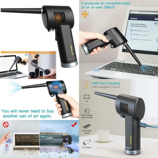 Cordless Air Duster For Compressed Spray Gas Cans Rechargeable Blower For Com