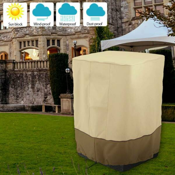 Fire Column Cover Outdoor Garden Patio Waterproof Dustproof Oxford Cloth CY $19.29