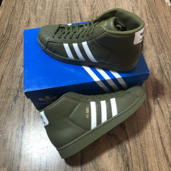 Adidas Originals Pro Model Olive AC7067 Shell Toe Shoes Size 9 Men's NEW IN BOX