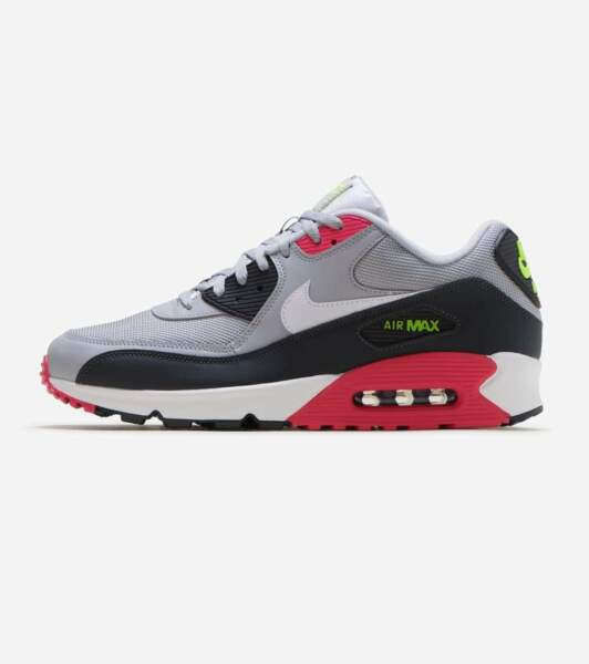 Nike Air Max 90 Essential Wolf Grey Rush Pink Men's Running Shoes AJ1285-020 NEW