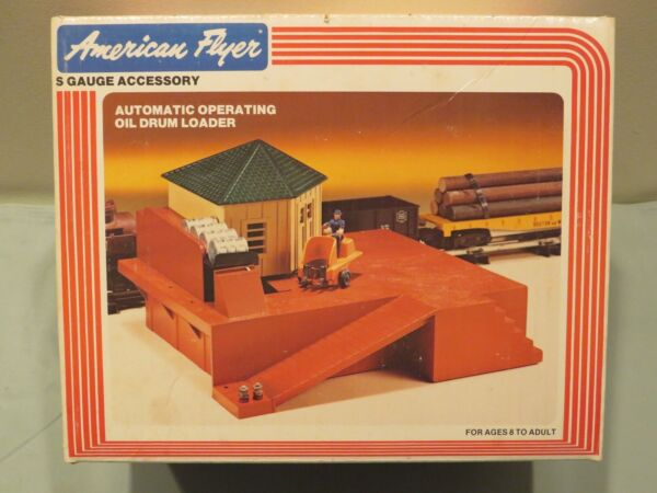 American Flyer #4-2300 Automatic Operating Oil Drum Loader S Gauge $52.99