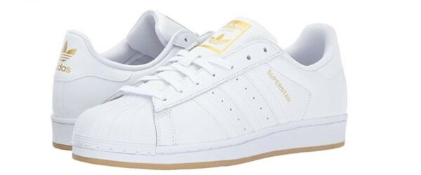 adidas Superstar Shoes White Gum Size 12 *New With Box*