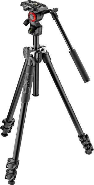 Open Box Excellent: Manfrotto 290 Tripod with Fluid Video Head Black