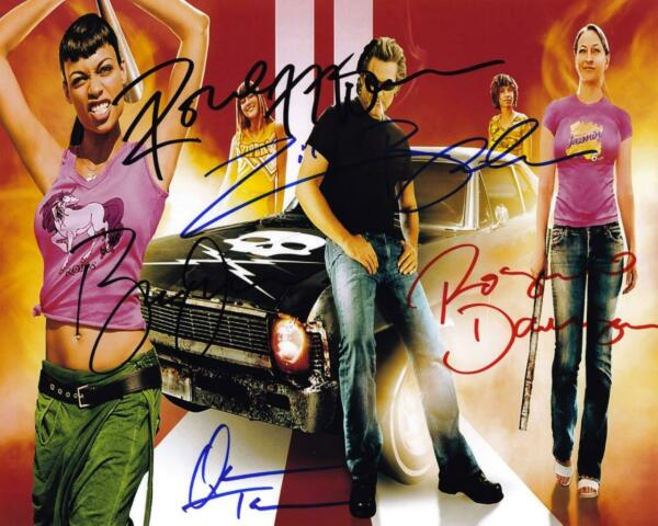 Death Proof Cast X5 SIGNED AUTOGRAPHED 10quot; X 8quot; REPRODUCTION PHOTO PRINT