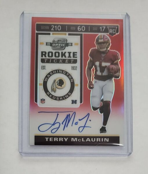 2019 Contenders Optic Terry McLaurin Rookie Ticket Red Auto #199 - Redskins $9.99