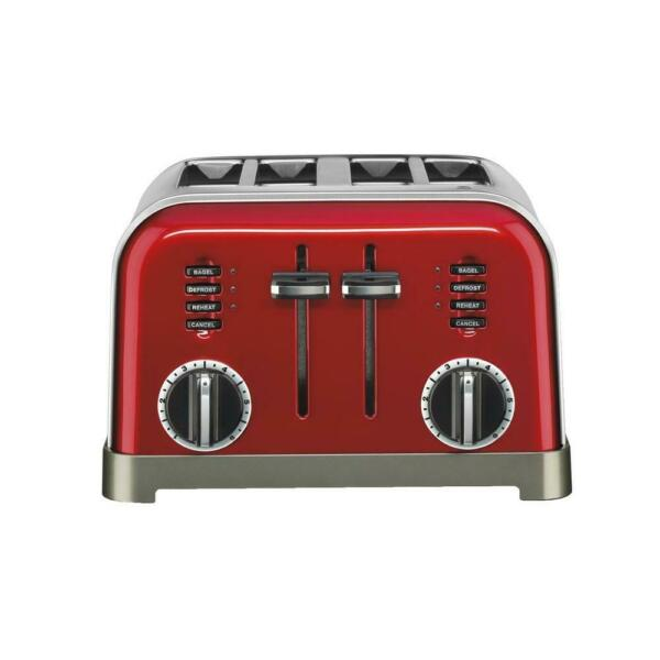 Cuisinart 4 Slice Toaster Dual Control Panels LED Indicators Stainless Steel