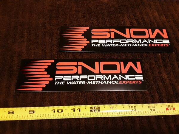 Lot of 2 SNOW Performance Water Methanol Injection Racing Decals Stickers Diesel